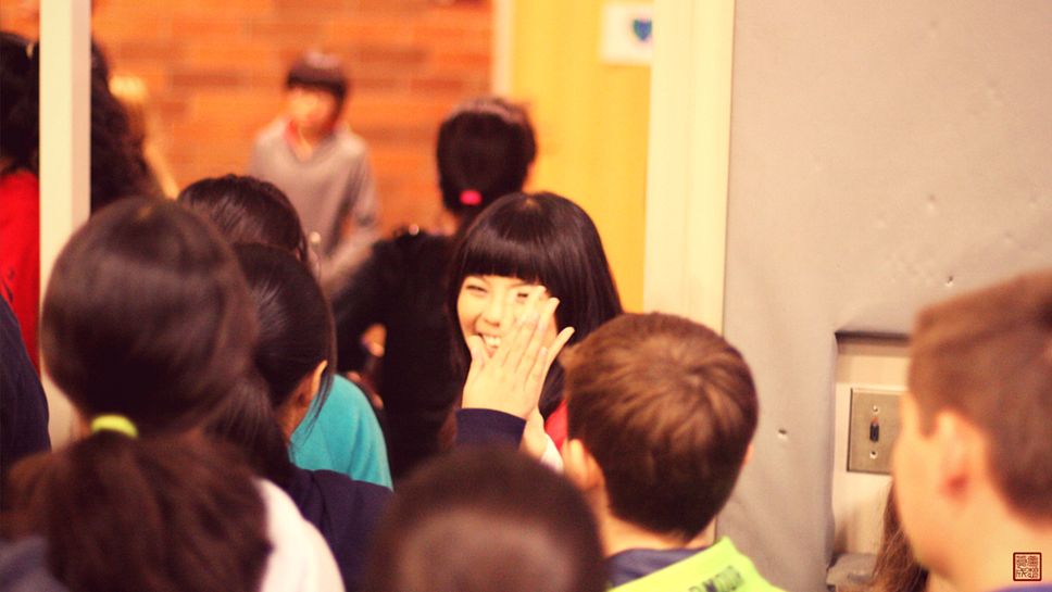That's me! Giving middle-schoolers taller than me high-fives after speaking to them at their Unity (Anti-Bullying Awareness) Week.